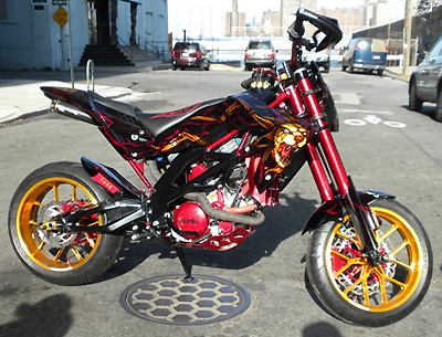 tuning moto supermotard